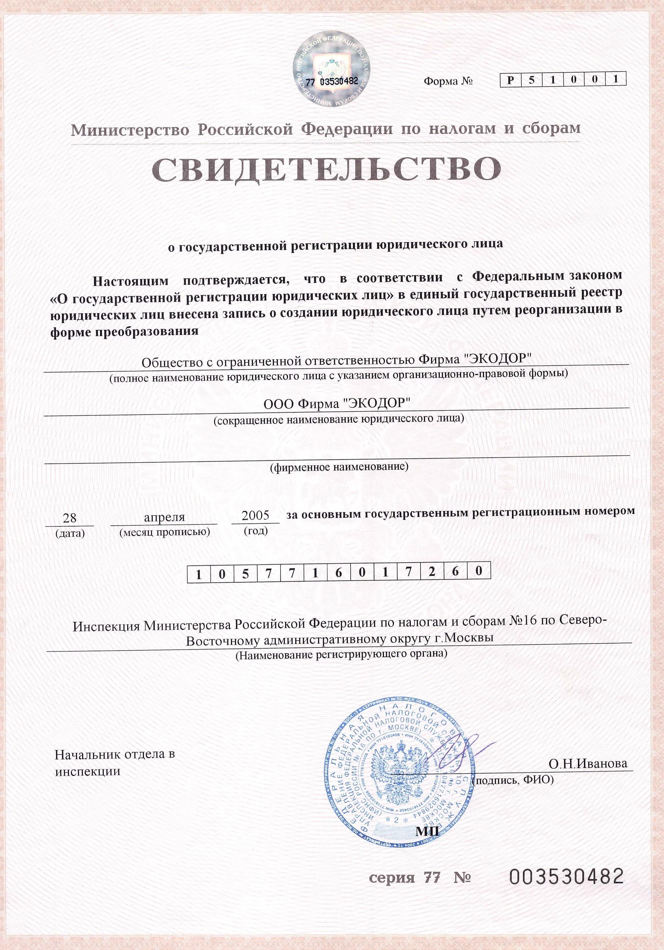 Свидетельство государственной регистрации ооо как заполнить декларацию 3 ндфл 2019 пример